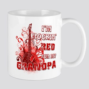 I'm Rockin' Red for my Grandpa Mug